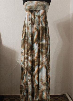 Платье бюстье в пол,р.xs-s