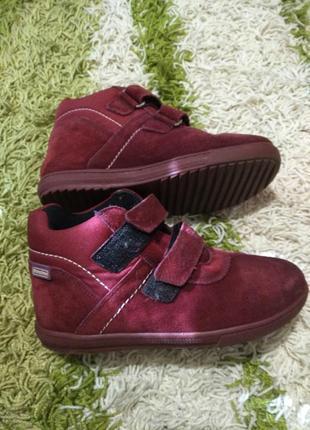 Замшевые ортопедические  ботинки  dandino