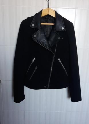 Кожаная кашемировая куртка косуха