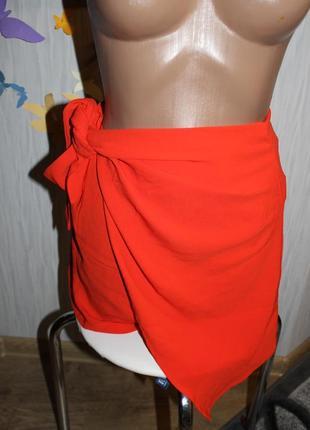 Шикарные морковные шорты на запах на высокой посадке missguided3 фото