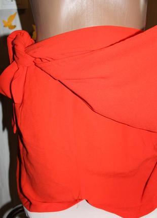 Шикарные морковные шорты на запах на высокой посадке missguided5 фото