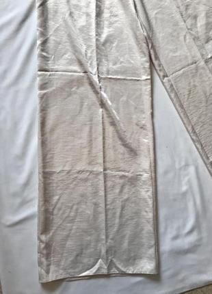Легкие сатиновые жемчужные штанишки кюлоты на высокой посадке р 12-14 missguided2 фото