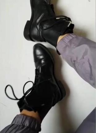Zara 24см ботинки стильные
