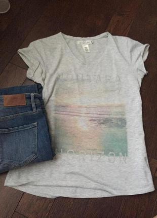 Стильная легкая футболка h&m, размер м/л