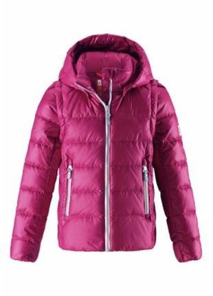 Пуховая куртка-жилетка для девочек 2в1 reima. рейма. зимняя куртка. пуховик.  для девочки