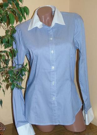 H & m шикарная рубашка в полоску - l - m