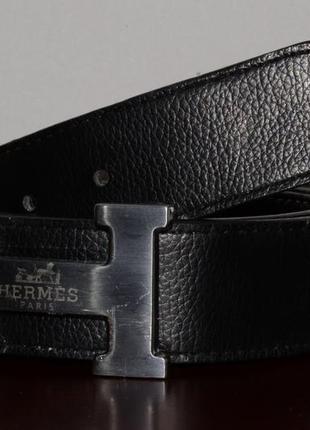 Ремень кожаный, двухсторонний hermes leather reversible belt