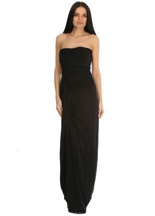 Платье в пол вечернее черное
