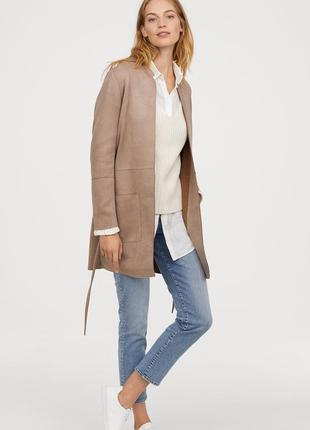 Пальто из искусственной замши, 34р (xs) - 40р (l), полиэстер 90%; эластан 10%