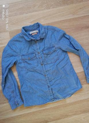 Джинсовая рубашка zara