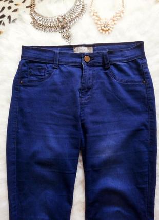 Идеальные синие джинсы скинни узкачи американки джеггинсы