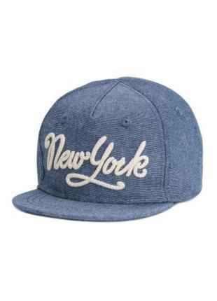 Хлопковая кепка new york  h&m на 8-14 лет