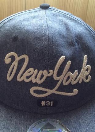Хлопковая кепка new york  h&m на 8-14 лет3