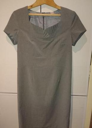 Красивое серое платье