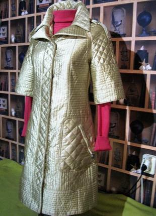 Be first (санкт - петербург) стильное стеганое пальто