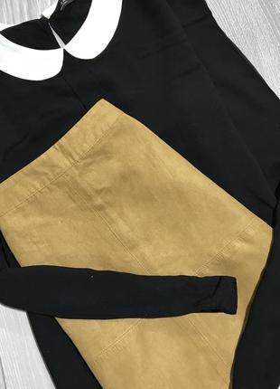 Черная блузка с белым воротником zara блуза женская
