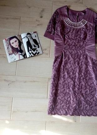 Нарядное кружевное платье р. l-xl