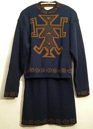 Diapositive pour naf-naf, костюм свитер юбка шерсть, made in france