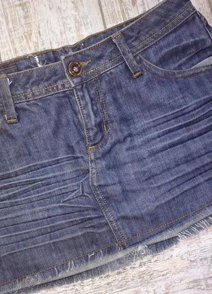 Стильная джинсовая юбка, xs-s