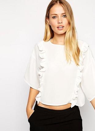 Свободная блуза с оборками asos,р-р 12