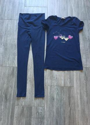 Комплект футболка + лосины для беременных esprit, s-m