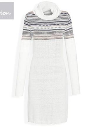 Туника - платье c шерстью альпаки, удлинённый свитер, германия ( евро 44-46)