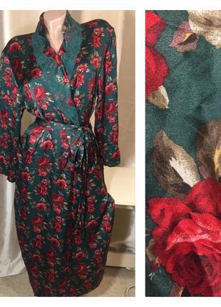 Роскошный шелковый халат 100% натуральный шелк