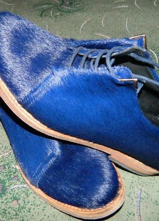 Туфли кожаные мех натуральный размер-37 стелька-23см