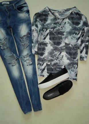 Легкая блуза-реглан next