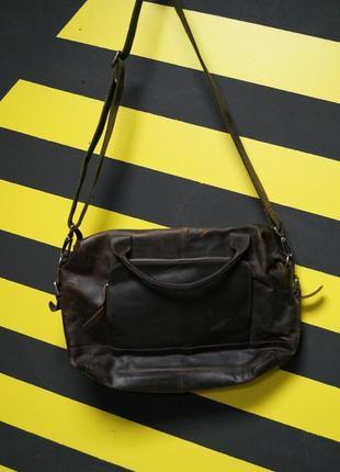 Кожаная сумка почтальонка-мессенджер от байкерской фирмы (souled out)
