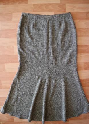 Теплая длинная юбка на подкладке