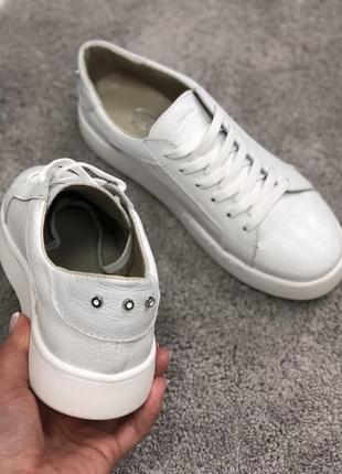 Кеды белые кожаные6 фото