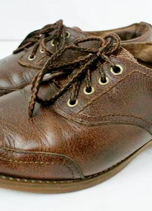 Стильные кожаные демисезонные туфли timberland размер 7/40 длина стельки 27 см