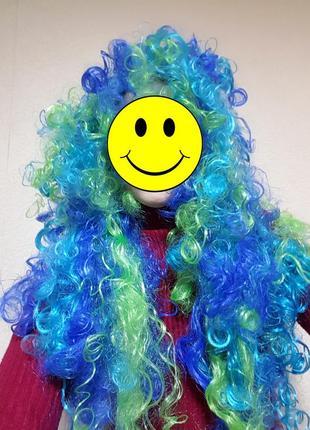 Карнавальный парик новый русалка баба яга