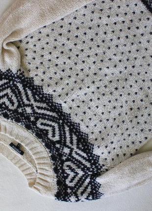 Теплый свитер с орнаментом papaya