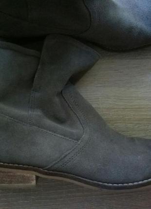 Замшевые ботинки на низком каблуке с эффектом омбрэ