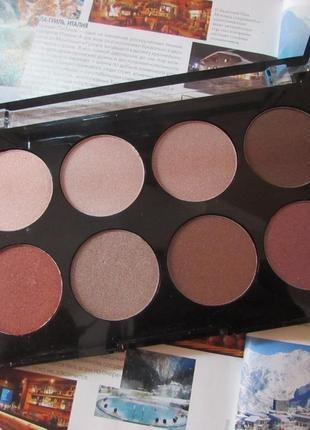Палитра теней huda beauty love in eyeshadow, тени для век