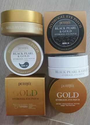 Патчи black pearl & gold hydrogel eye patch, 60 штук
