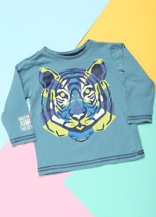 Детская кофточка с тигром 9-12 мес