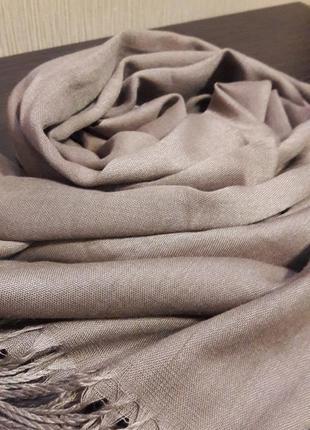 ☕шикарный капучино шарф шаль кашемировый качество шикарное