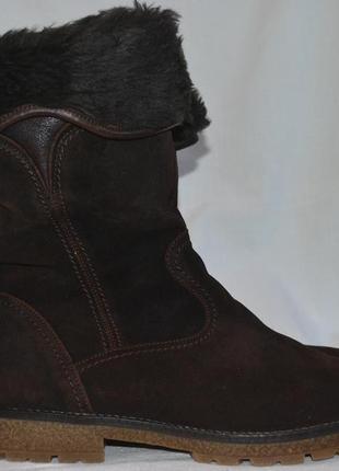 Gabor 39-40р сапоги зимние кожаные ботинки на меху.