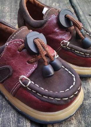 Детская обувь топ-сайдер натуральная кожа