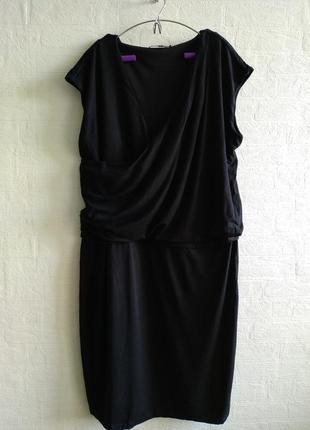 Стильное черное платьеце на запах, бренда bonita, подойдет на 54,56 р.