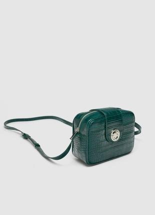 Новая квадратная сумка с тиснением zara