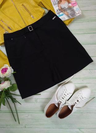 Юбка мини черная классика
