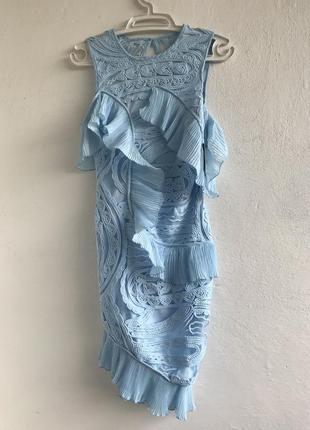 Платье миди с оборками missguided
