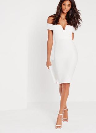 Шикарное миди платье на плечи от missguided