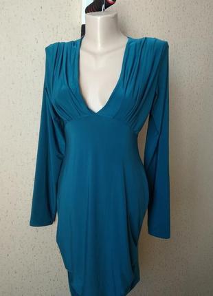 Платье цвет морской волны