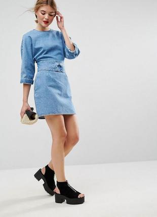 Ліквідація товару до 10 грудня 2018 !!! джинсовое платье asos