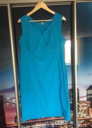 Очень красивое фирменное бирюзовое платье 50 размера